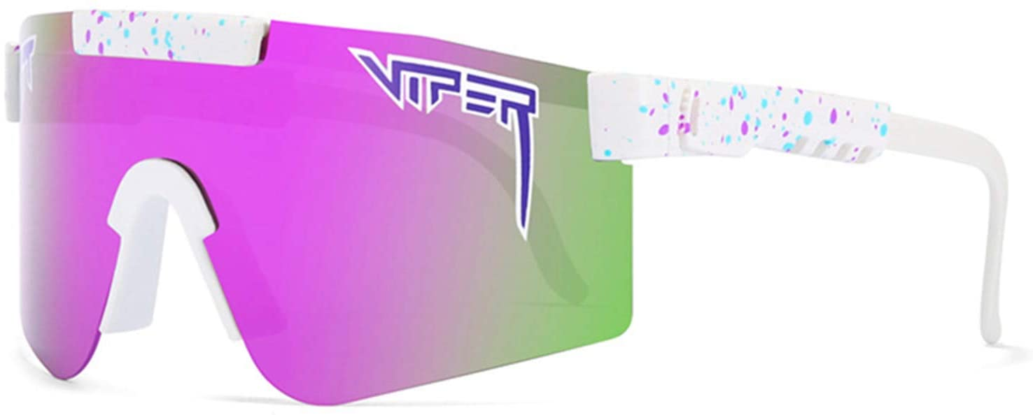 Xiakolaka Original Pit Viper Polarized Bike Sunglasses for Cycling Men Women Outdoor Sports Fishing Golf Baseball Running Glasses Windproof Eyewear