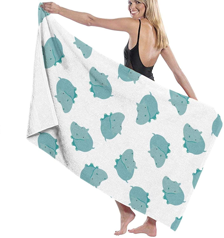 NiYoung Womens Wrap, Shower & Bath, Spa Towel Green Hippo Bath Towel Microfiber Soft Thick Super Absorbent