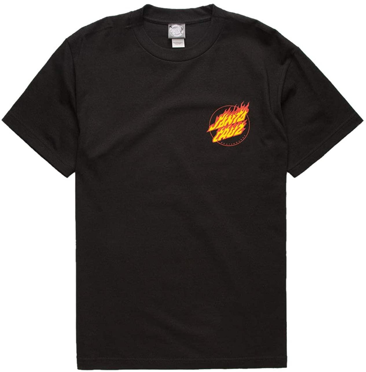 Santa Cruz Flaming Dot Black T-Shirt