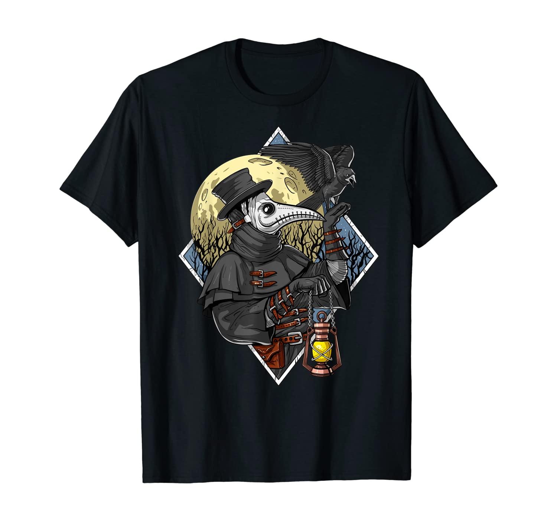 Plague Doctor Steampunk Raven Medieval Fantasy Gothic T-Shirt
