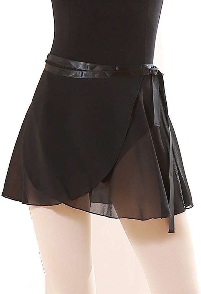Summery Ballet Dance Skirts for Women Chiffon Wrap Skirt Tutu for Girls-Big Size 30-38cm