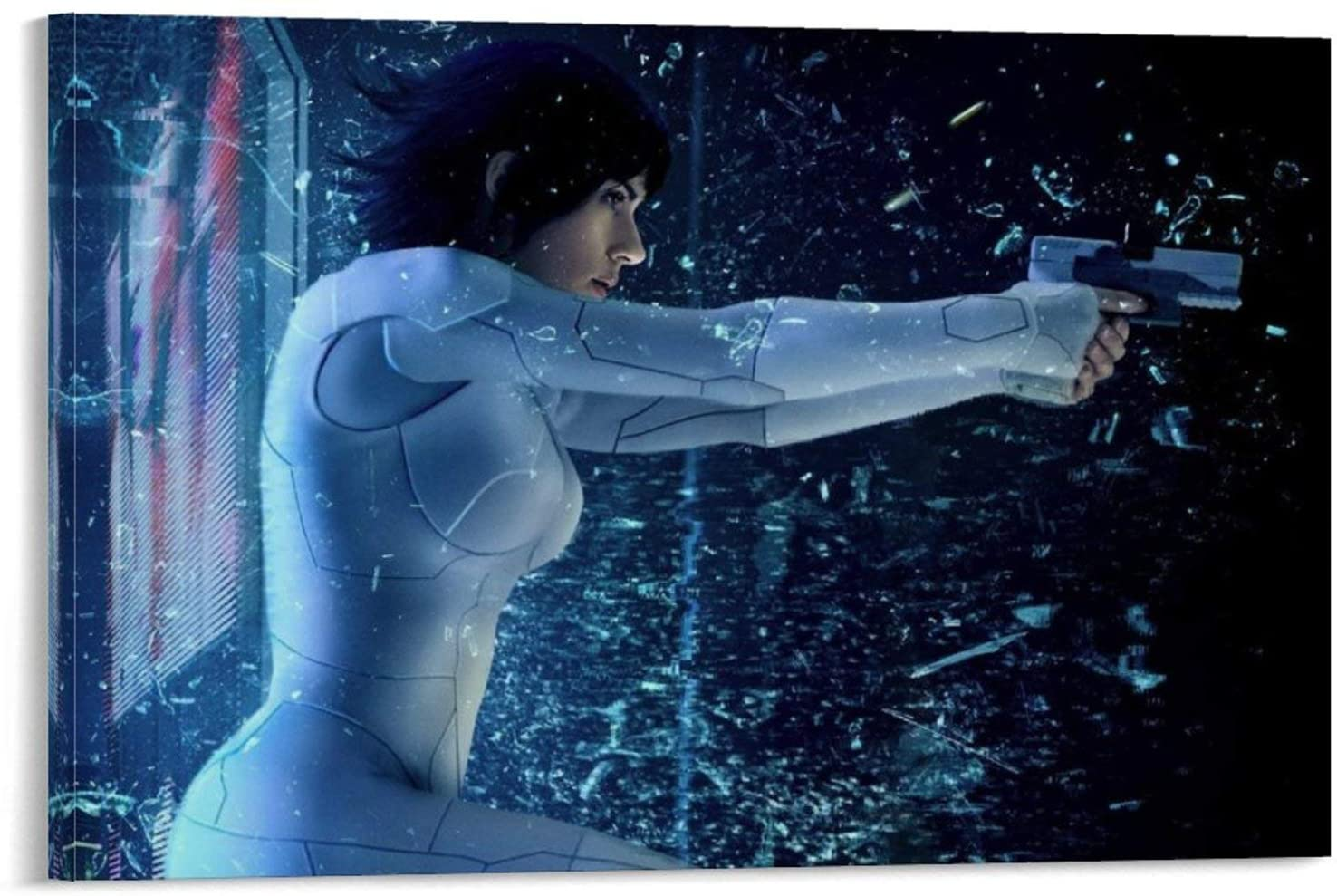 Ghost in The Shell 2017 Canvas Art Poster and Wall Art Picture Print Modern Family Bedroom Decor Posters 24x36inch(60x90cm)