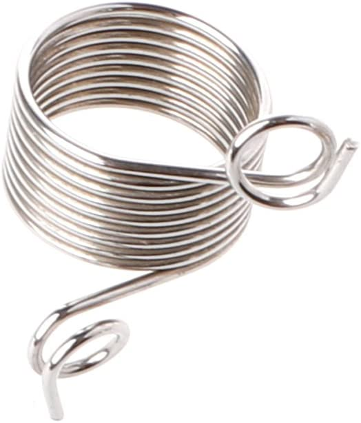 VIccoo Yarn Strand Guide, Stainless Steel Yarn Threader Finger Ring Wool Thread Thimble Knitting Sew Tool - L