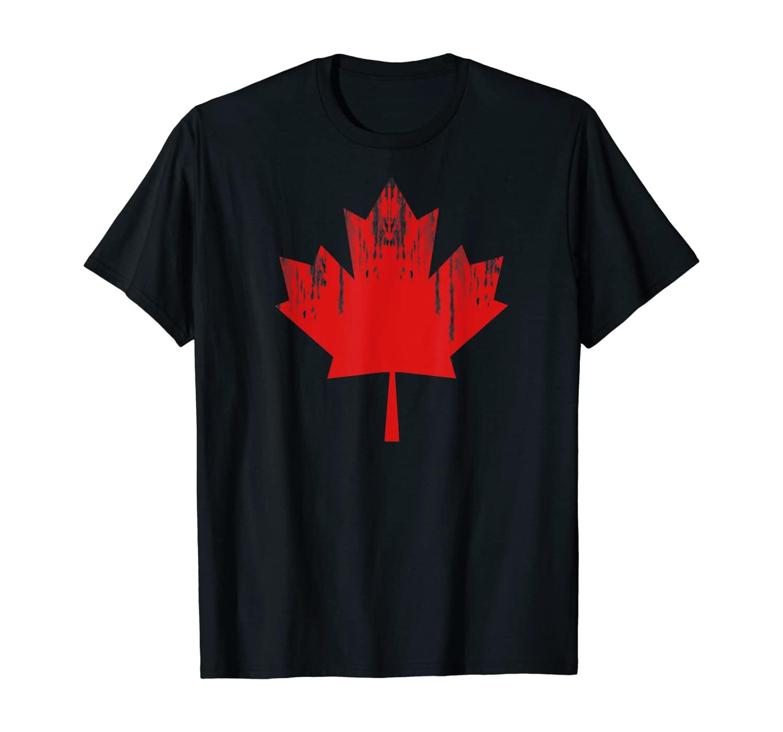 Maple Leaf I Love Canada Minimalist Canadian Flag Gift idea T-Shirt