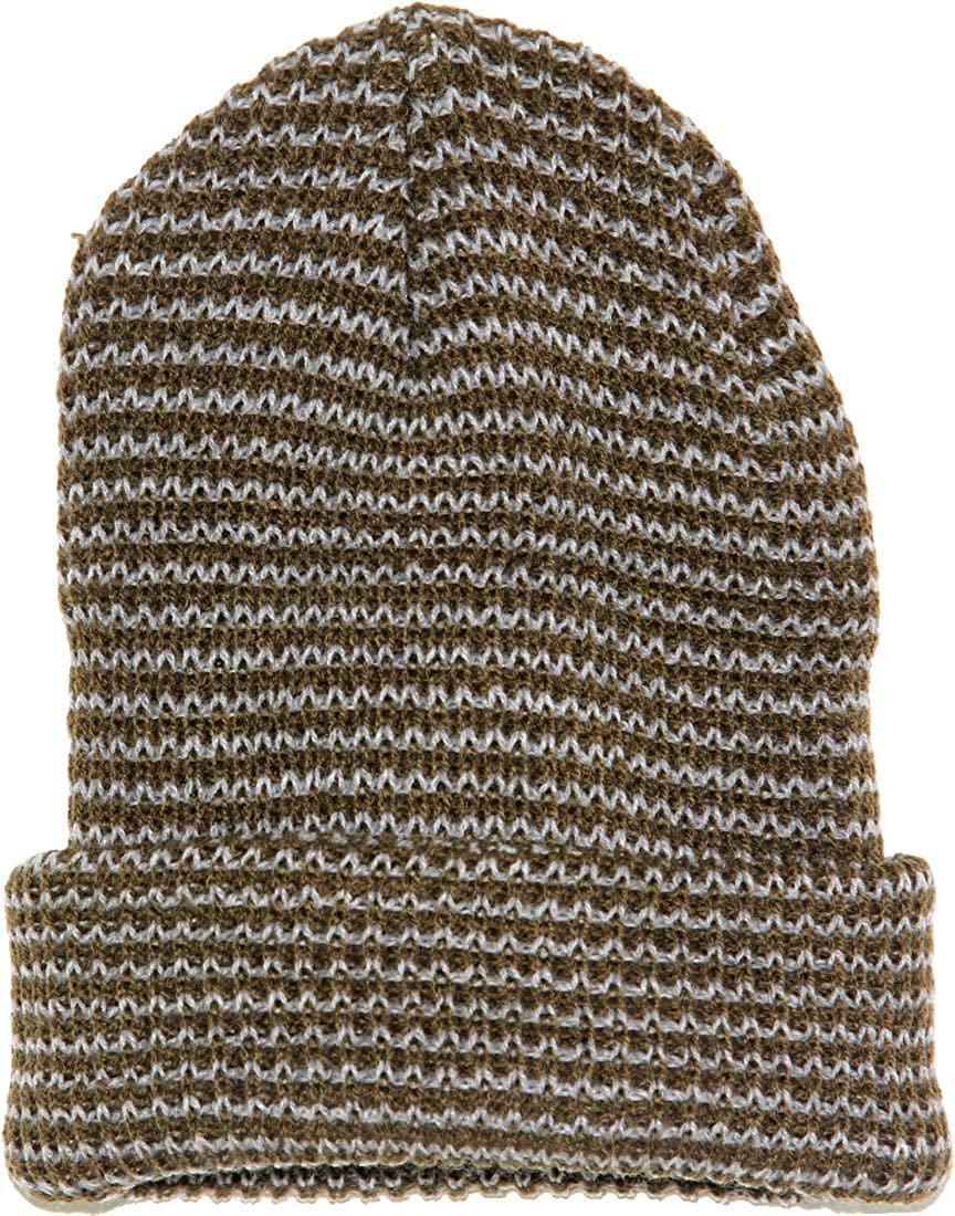Highwaypay Unisex Beanie Hat Acrylic Daily Warm Soft Winter Knit Ski Skull Cap 13 Inch Long Knitted Beanie Warm Winter Knitted Rib Hat 4472