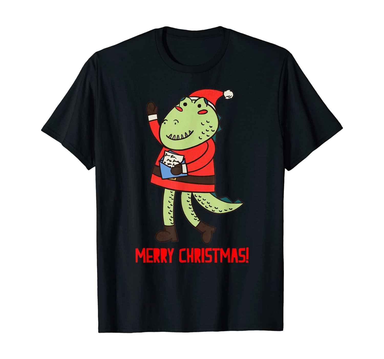 Family Matching Christmas Pajama Alligator Santa Xmas Gift T-Shirt
