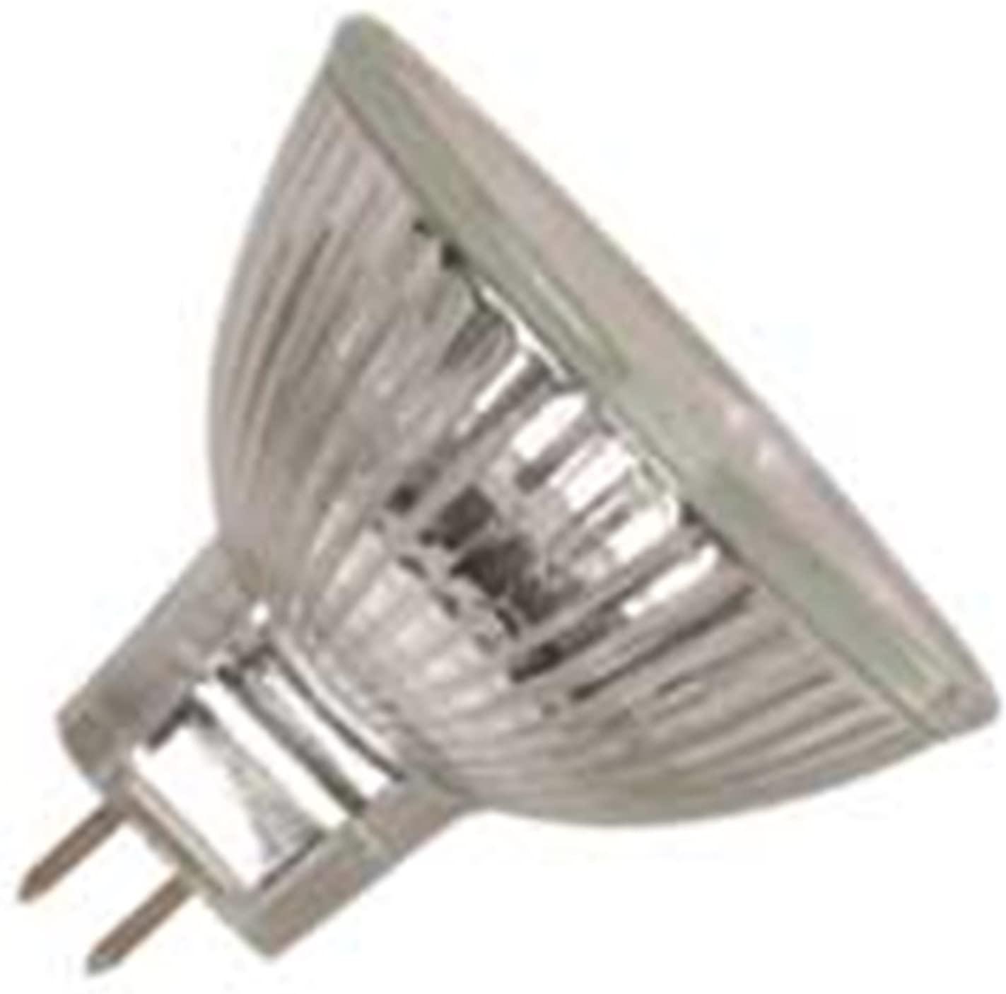 10 Qty. Halco 20W MR16 WFL LNS 12V GU5.3 Prism MR16WFL20/L/AL 20w 12v Halogen Wide Flood w/Lens Lamp Bulb