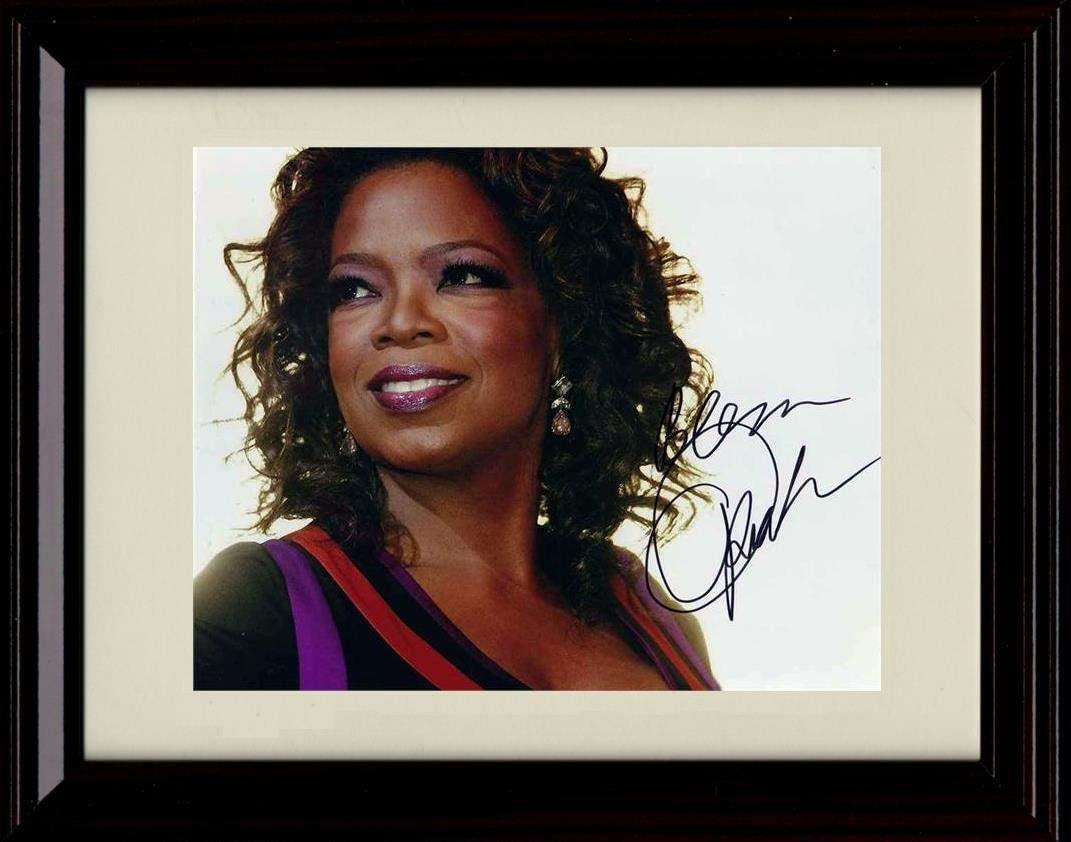 Framed Oprah Autograph Replica Print - Landscape