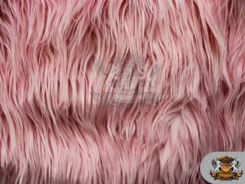 Faux/Fake Fur Mongolian Pink Fabric by The Yard [Kitchen]