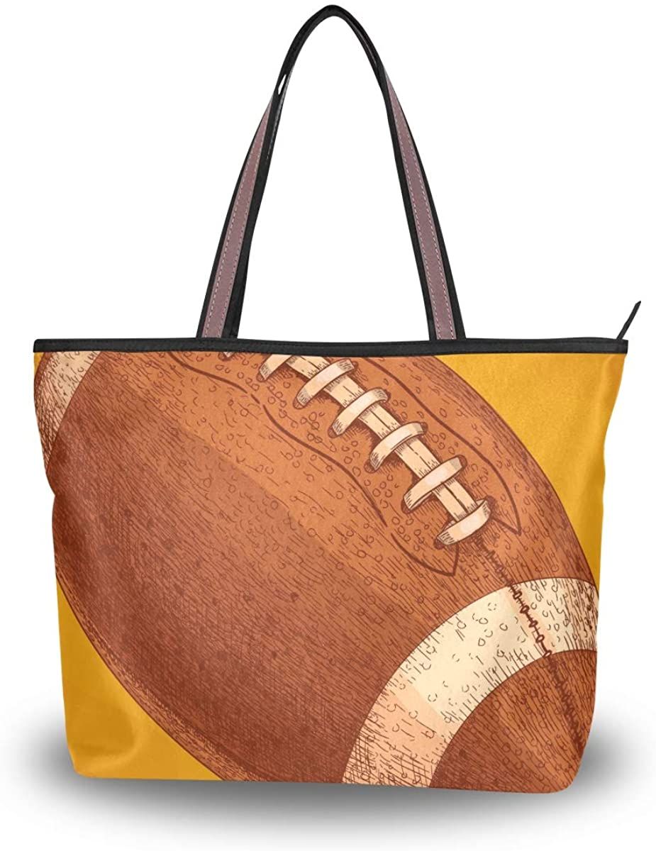 Woman Tote Bag Rugby Shoulder Handbag for Work Travel Business Beach Shopping School