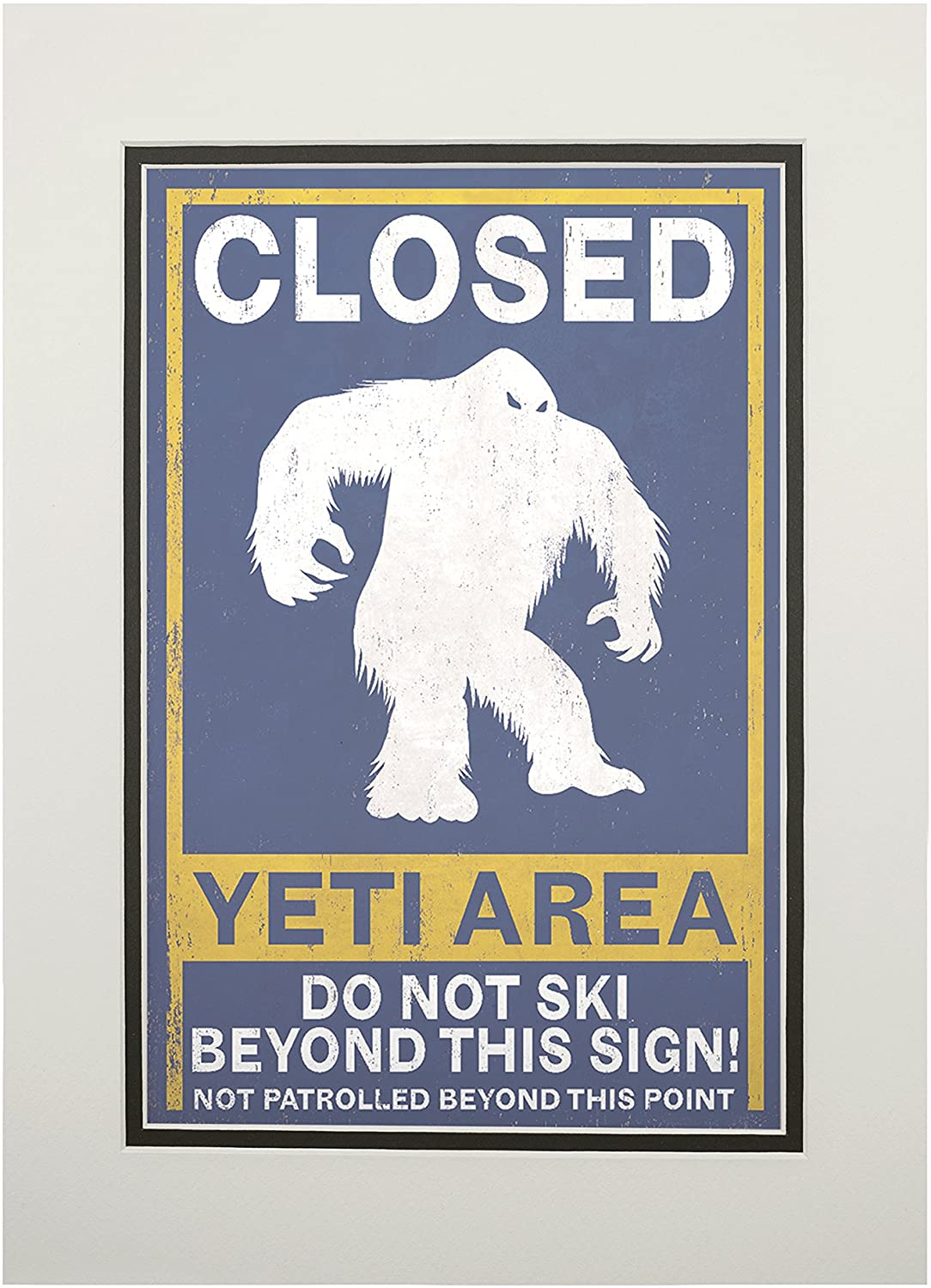 Yeti (11x14 Double-Matted Art Print, Wall Decor Ready to Frame)