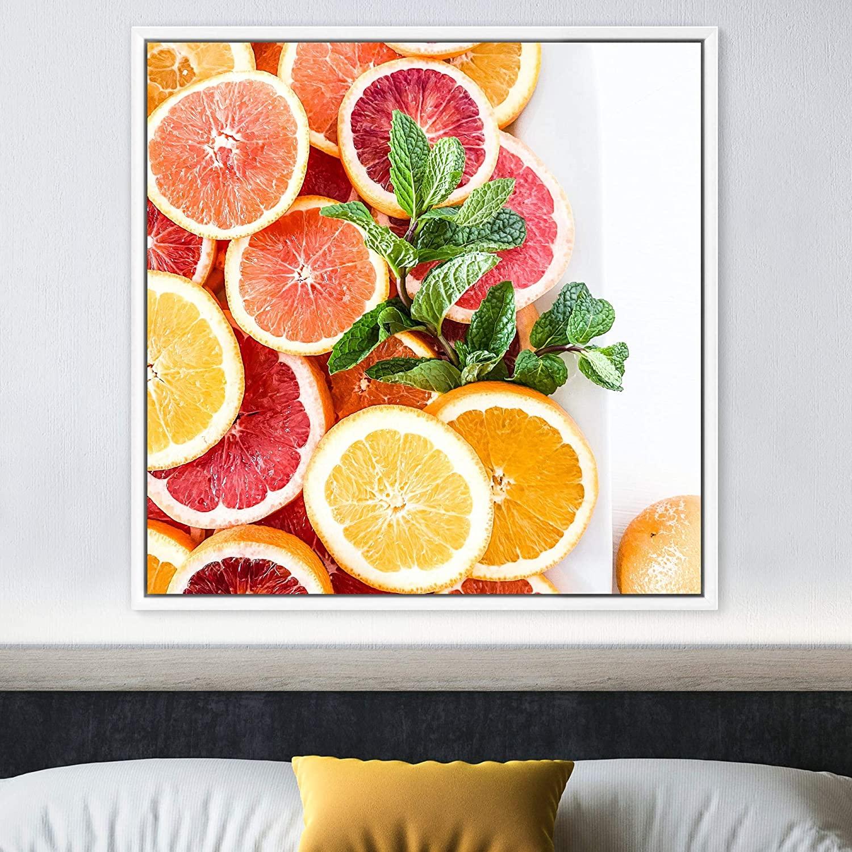 bestdeal depot Orange Framed Canvas Wall Art Prints for Living Room,Bedroom Framed Artwork Decoration Ready to Hang - 16