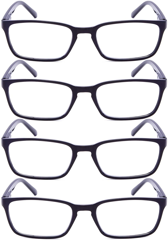 Reading Glasses 4 Pairs Retro Readers Women Men Reading Eyeglasses
