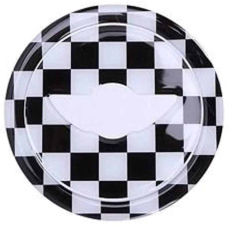 Steering Wheel Center 3D Sticker For MINI COOPER checker