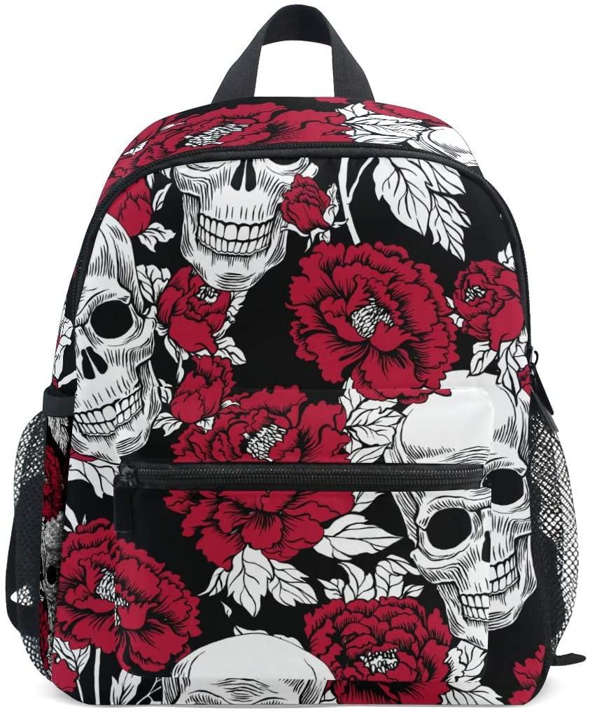 Upgraded Backpack for School Bookbag Girls Boys Sugar Skull Smal Travel Backpack(906i1)
