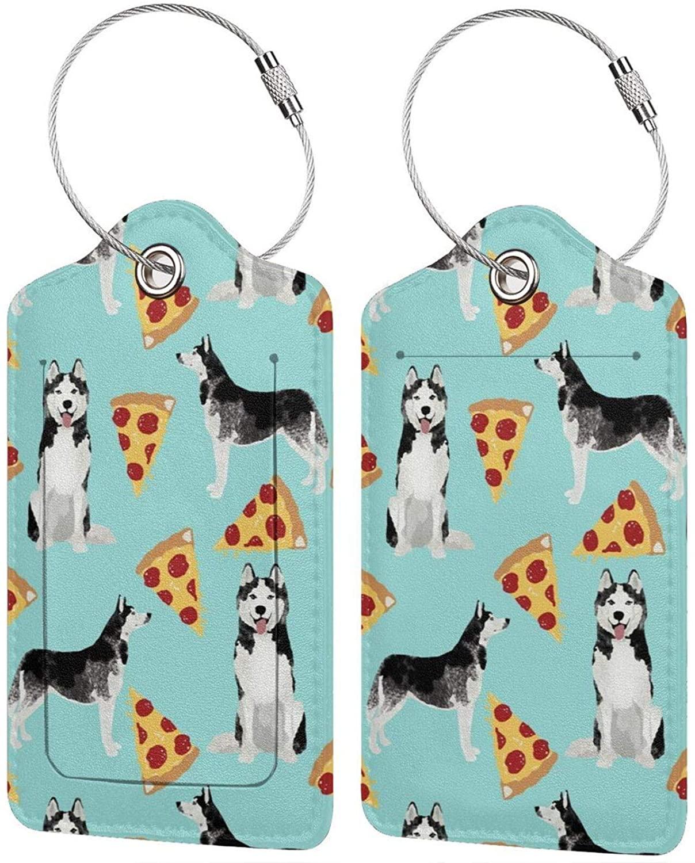 NiYoung Tourister Husky Pizza Luggage Tag Fashion Name Luggage Bag Tags Cool Travel Bag Labels Wedding Bridal Shower Gift