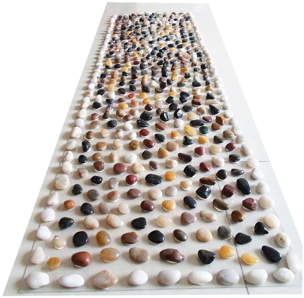 Natural Pebbles Reflexology Foot Massage Walkway Yoga Mat