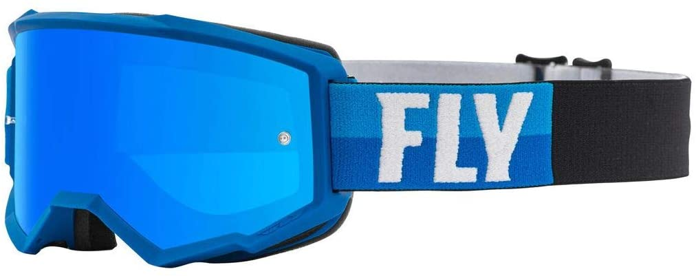 Fly Racing 2021 Zone Goggles (Blue/Black/Sky Blue Mirror Lens)