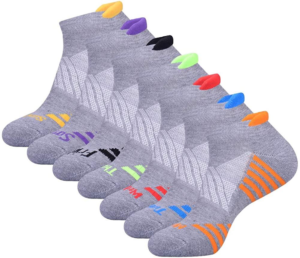 JOYNÉE Mens Ankle Athletic Socks Low Cut Week Socks for Sports Running 7 Pack
