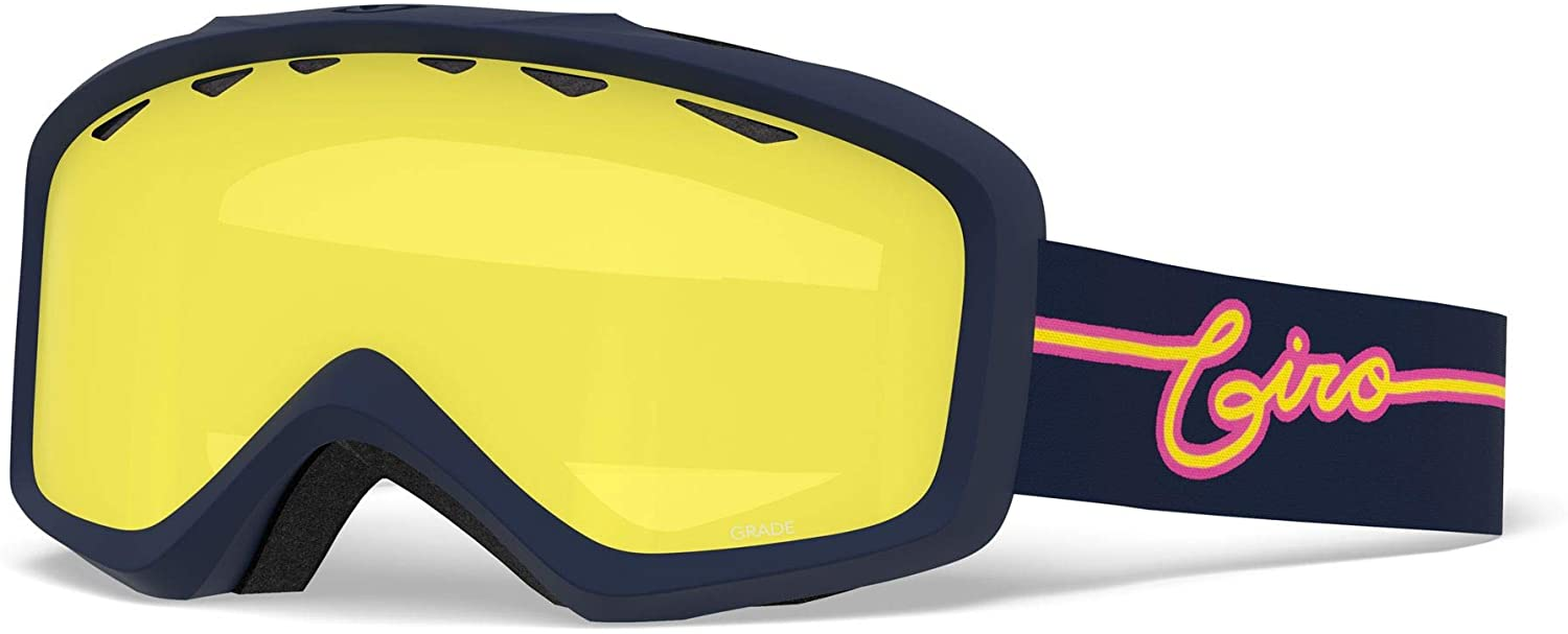 Giro Grade Youth Snow Goggles - Midnight Neon Lights Strap with Yellow Boost Lens (2021)