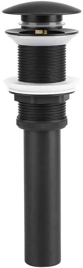 DERCLIVE Kitchen Bathroom Vanity Sink Brass pop-up Drain Plug (Black)