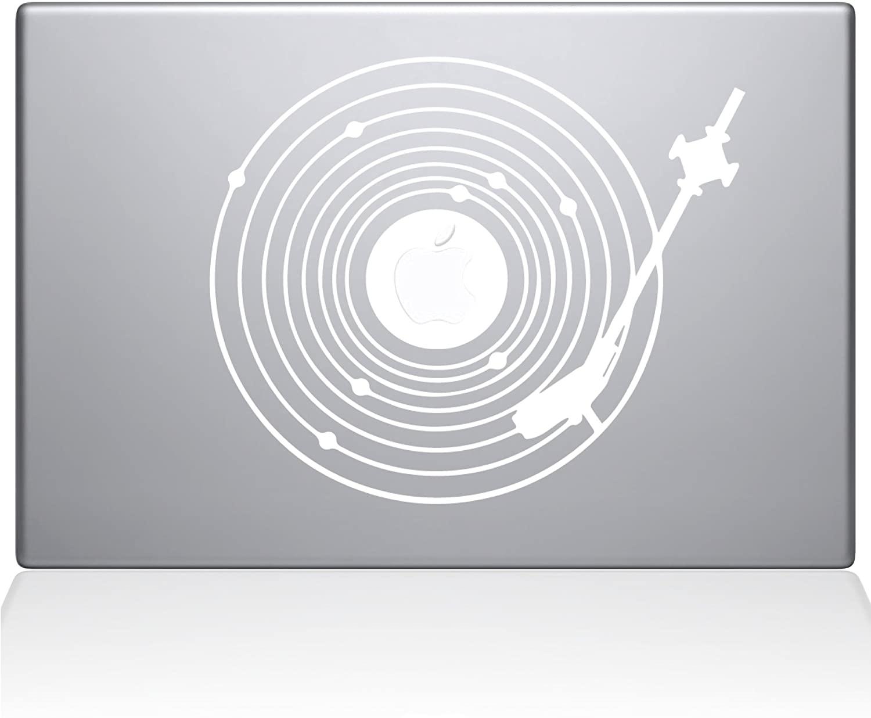 The Decal Guru 2065-MAC-12M-W Record Universe Decal Vinyl Sticker, 12 MacBook, White