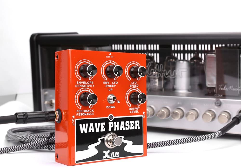 Phaser Guitar Effect Pedal 4 Modes Including Noise Reduction True Bypass Multistage Analog Phaser