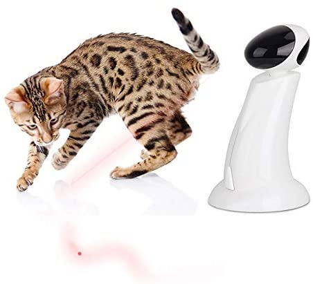 ALL FOR PAWS Funny Cat Dog Light Toy, Upgrade Pet Training Exercise Chaser Tool, Puppy Cat Chasing Playing Light Toy