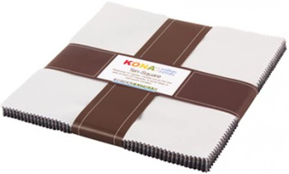 Robert Kaufman TEN-254-42 42 Piece Squares Kona Cotton Midnight Oasis Fabric, 10