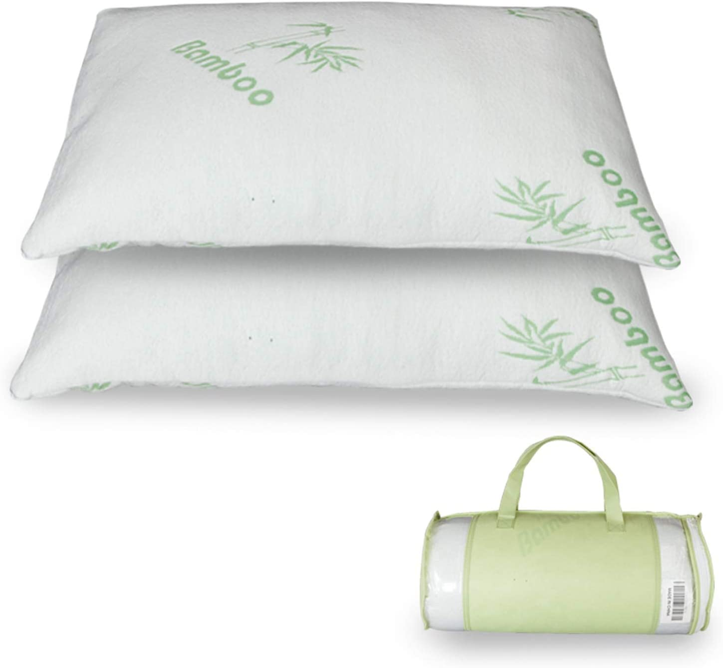 SPARSIFOLIA Memory Cotton Pillow; Gel Pillows Contour Support; Used for Neck Pain, Orthopedic, Back, Stomach, Side Sleepers; King Size; Single/Nantong; White