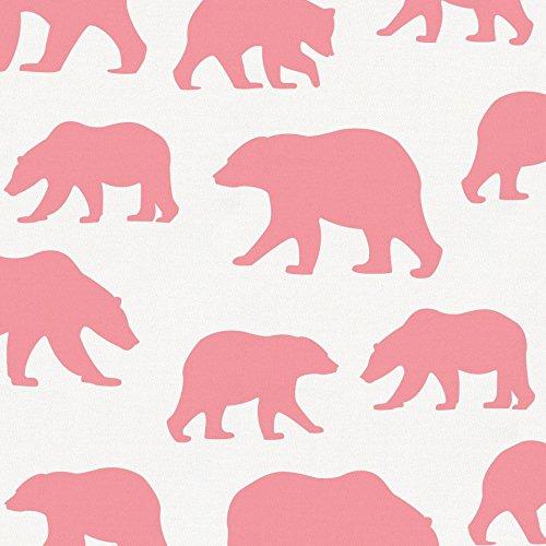 Carousel Designs Watermelon Bears Fabric by The Yard - Organic 100% Cotton