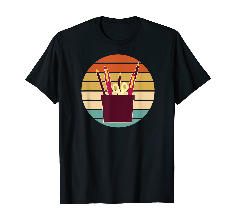 Secretary Office Set Logo Retro Sunset T-Shirt