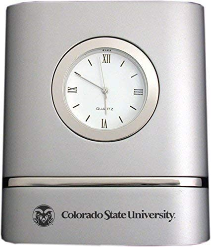 LXG, Inc. Colorado State University- Two-Toned Desk Clock -Silver