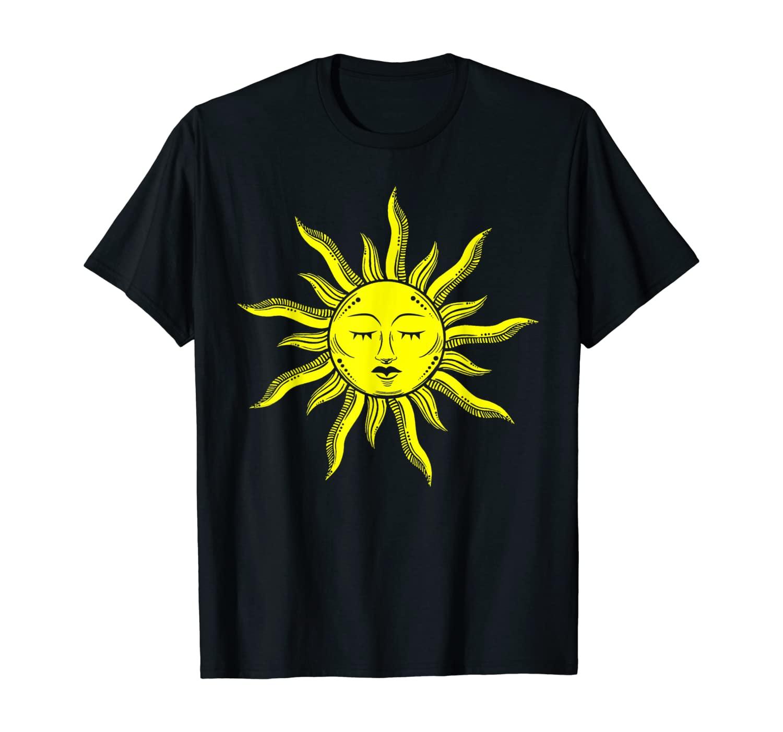 Matching Couple Sun And Moon Zodiac Esotheric Couple T-Shirt