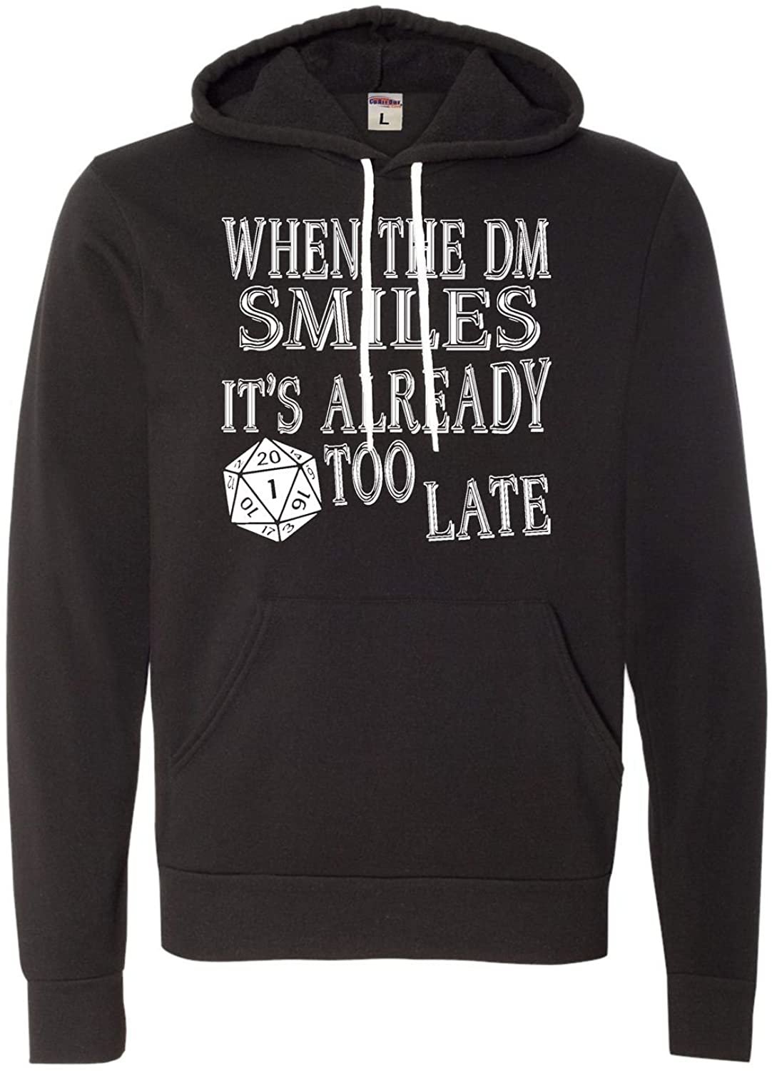 Adult When The DM Smiles It's Already Too Late Funny Deluxe Super Soft Sweatshirt Hoodie