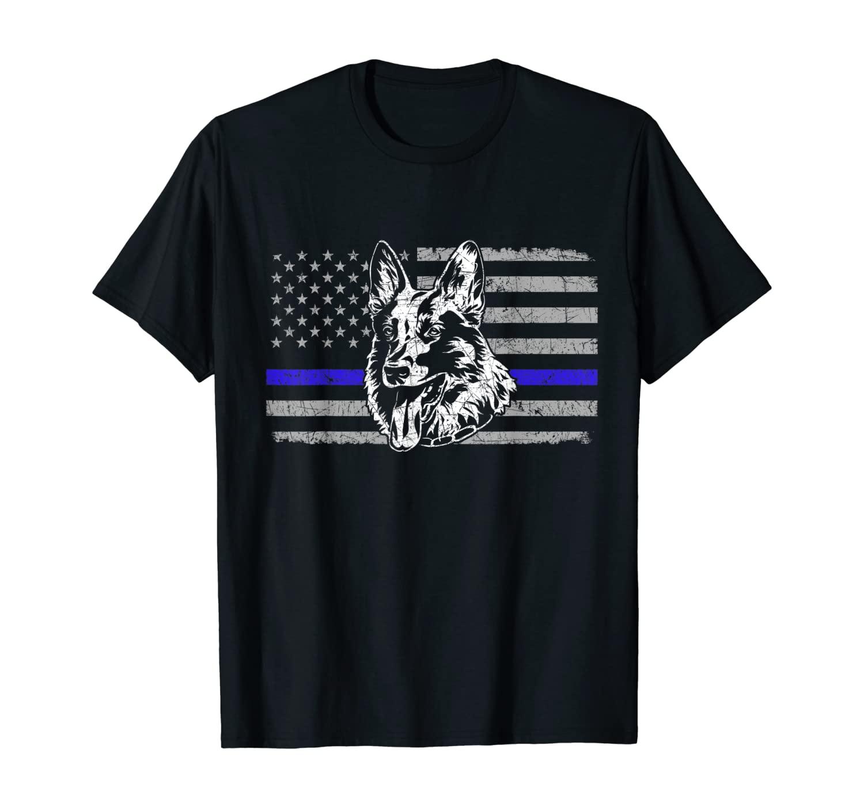 Patriotic US Flag German Shepherd T-Shirt