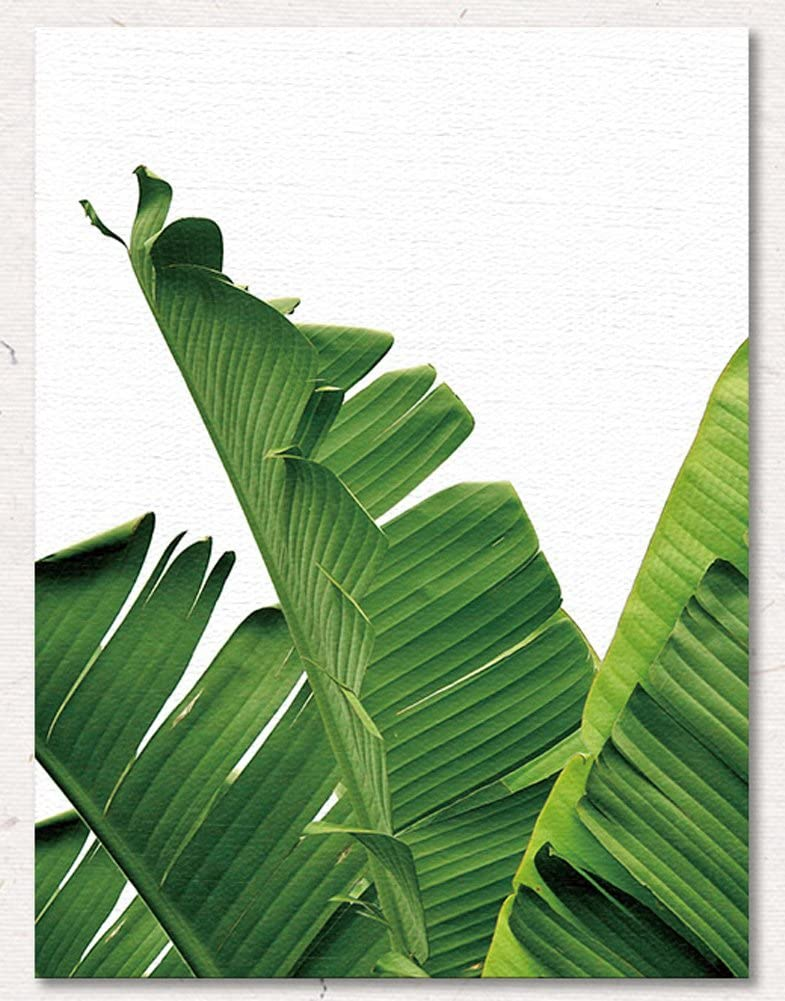 ChezMax Wall Art on Canvas Print Artwork Pictures for Home Decor Green Tropical Plants Palm Leaves 9.8