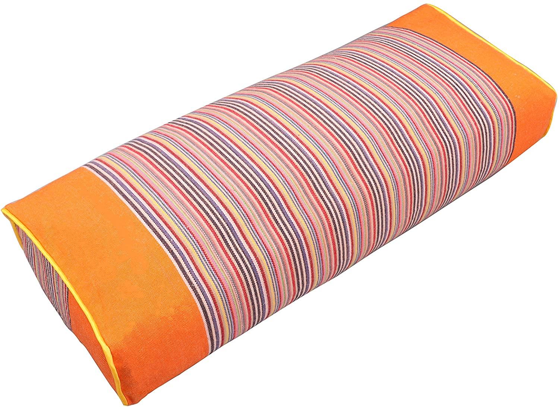 JOERRES Buckwheat Pillow 100% Organic Coarse Cloth Package. The Pillowcase Has Massaging Effect.Improve Sleep Quality. (Orange)