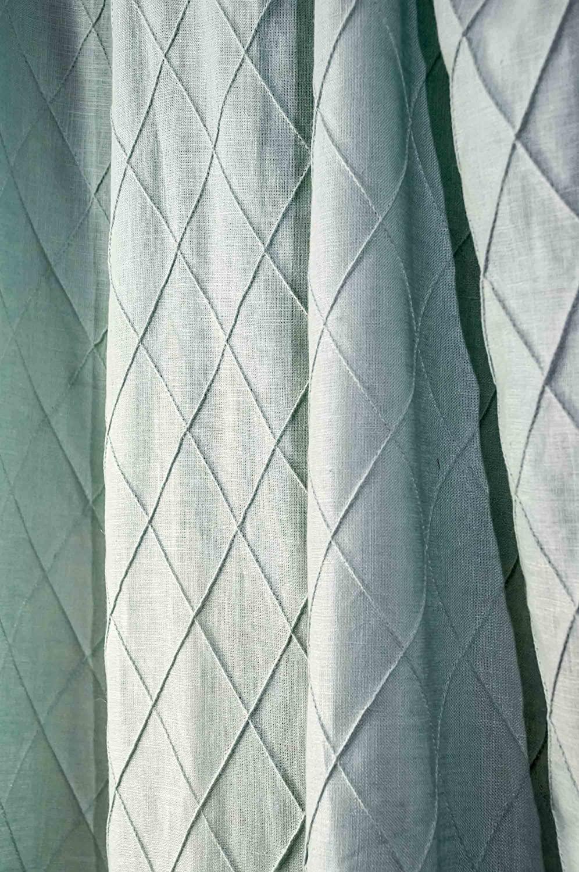 Silk n Drapes and More Diamond Pintucked Linen Curtain/Panel/Drape (Spa, 50