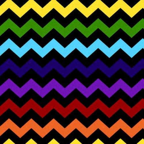Rainbow Chevron Anti-Pill Fleece Fabric by The Yard