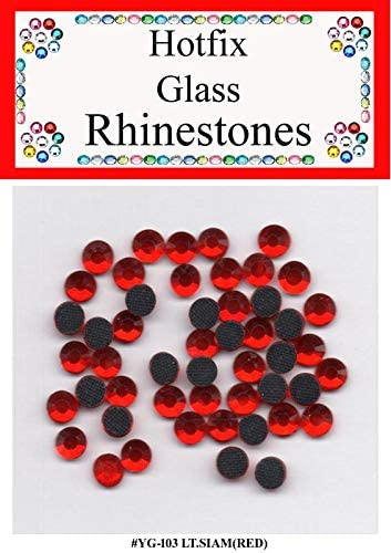 12 Packs Value- Hotfix Rhinestones -The Best Quality Glass Crystals at Value Price- Great for Quilting, Sewing, Scrapbooking & General Crafts- Color: Light SIAM (RED); Size: 3MM(SS10); Qty: 70 pcs/pk
