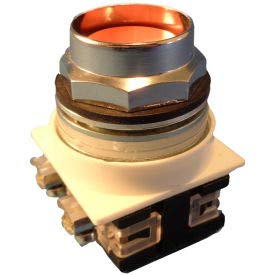 Springer Controls N7PNEA02, 30 mm Recessed Push Button, 2 Normally Closed, Momentary, Amber