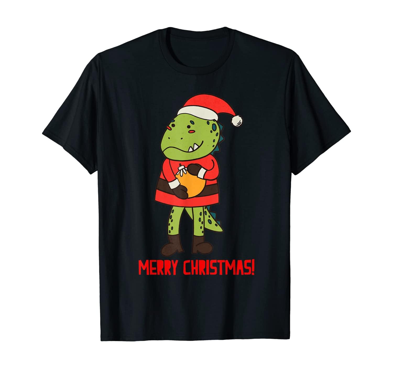 Family Matching Christmas Pajama T rex Santa Dinosaur Gift T-Shirt