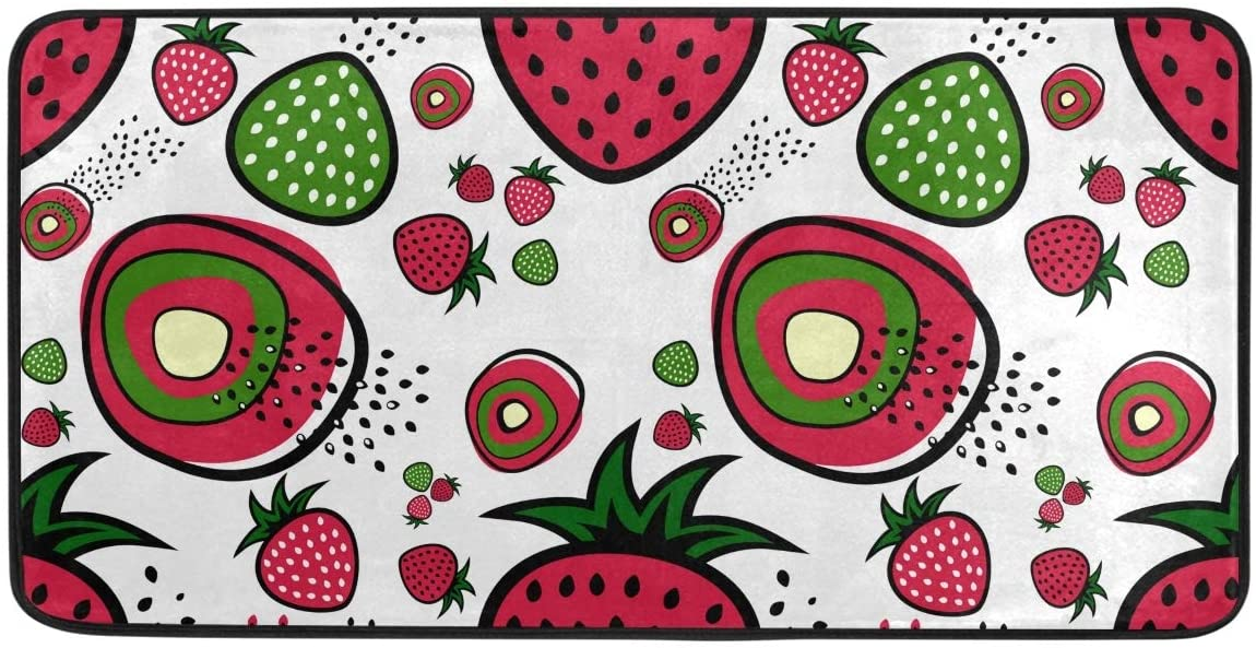ALAZA Strawberry Standing Mat Kitchen Rug Mat, Comfort Flooring, Commercial Grade Pads, Absorbent, Ergonomic Floor Pad, Rugs for Office Stand Up Desk 39x20in(925b)
