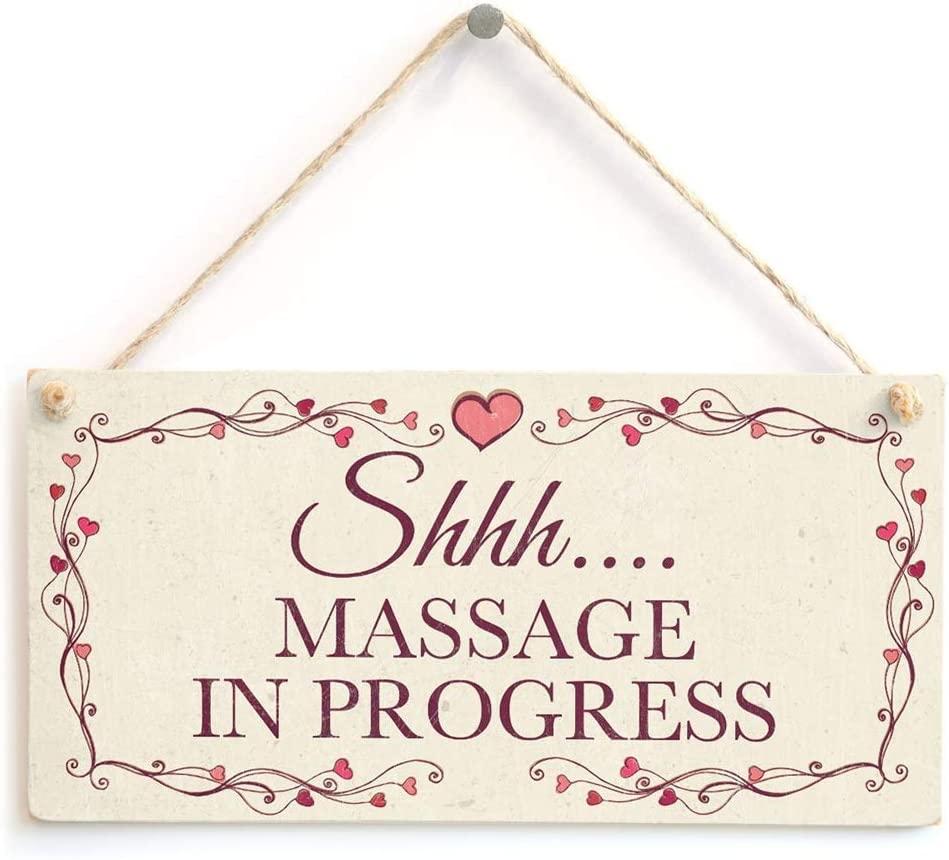na Shhh…. Massage in Progress - Hanging Privacy Quiet Please Salon Sign 10