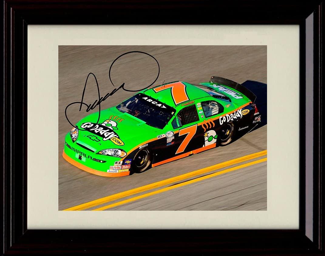 Framed Danica Patrick Autograph Replica Print - #7 Car