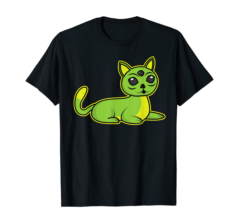 Alien Cat Shirt | Cool Stranger UFO Cats T-shirt Gift