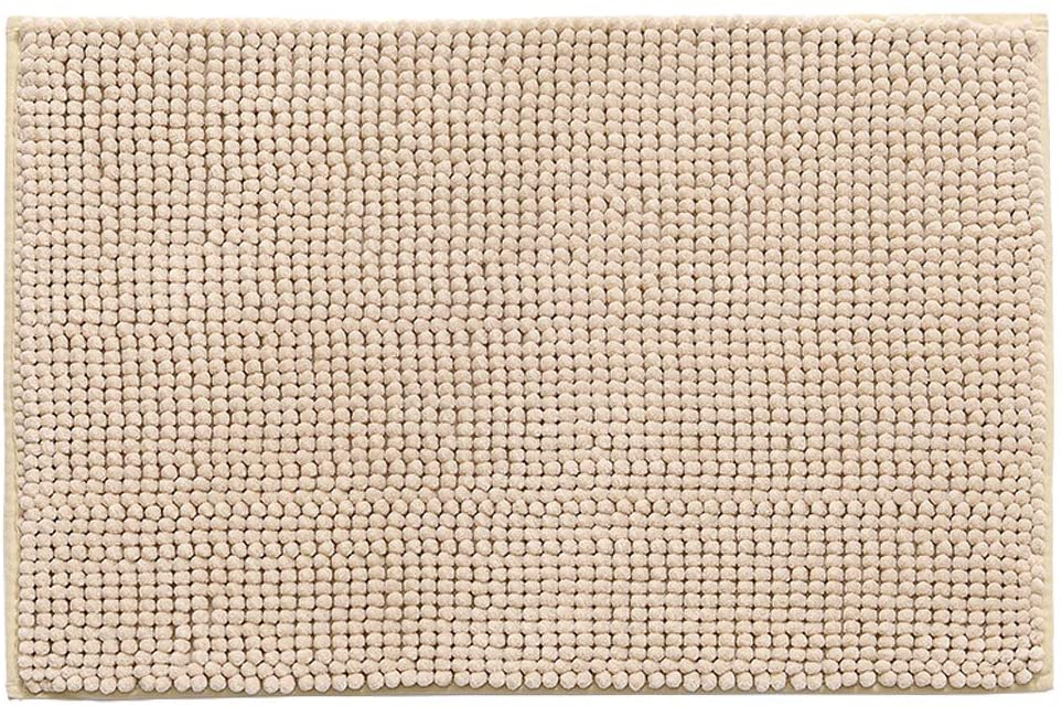 TEERFU Non-Slip 50 x 80cm Chenille Bath Mat,Bathroom Mats, Soft Water Absorbent Microfiber Shower Rug for Bedroom,Kitchen,Hallway,Doorway