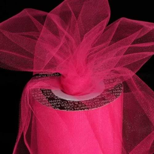 Designer Hot Pink Tulle Craft Ribbon 3
