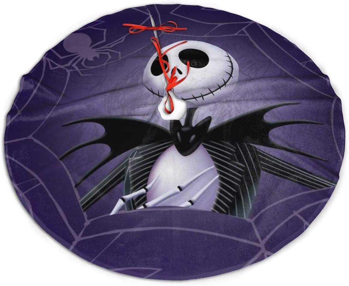 The Nightmare Before Christmas Jack and Sally Christmas Tree Skirt, Soft, Easy to Put, Light for Christmas Decorations, Holiday, Party Decoration (The Nightmare Before Christmas 1, 30